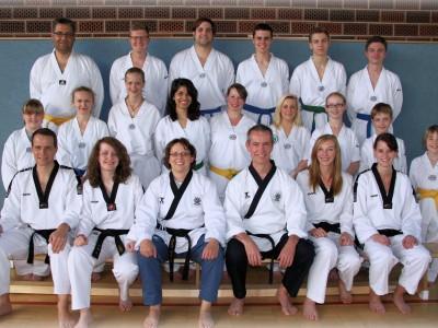 Mitglieder der Teakwondo-Gruppe
