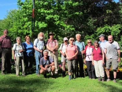 Ausflug der Wandergruppe der TSG Irlich zum Fünfseenblick - wir wandern gerne