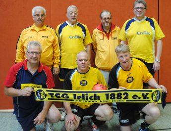 Das Prellball-Team der TSG Irlich beim ersten Spielatg der Landesliga.