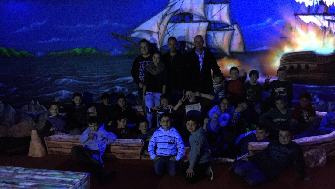 F- u. E-Junioren der TSG Irlich feiern ihren Jahresabschluss im Neuwieder Black Pearl.