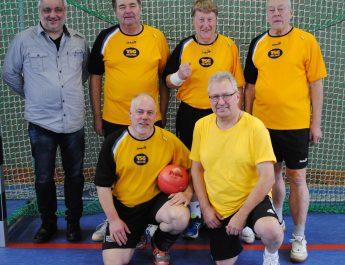 Das Team der TSG Irlich; v.l.n.r. stehend Rolf Schöning, Dietmar Weber, Horst Stamm & Klaus Pinhammer, knieend v.l.n.r. Patrick Hoffmann Reiner Wolf
