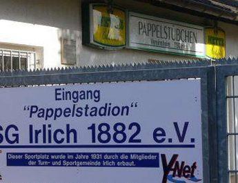Das Pappelstadion in Irlich - die Heimat der TSG.