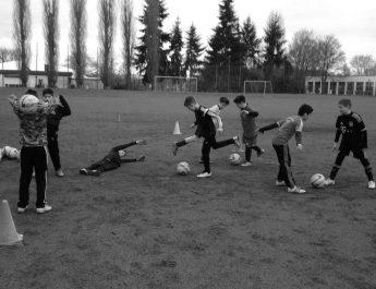 Die E-Junioren der TSG Irlich in vollem Tatendrang.