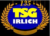 Das Logo der TSG Irlich zum 135-Jahre-Jubiläum.