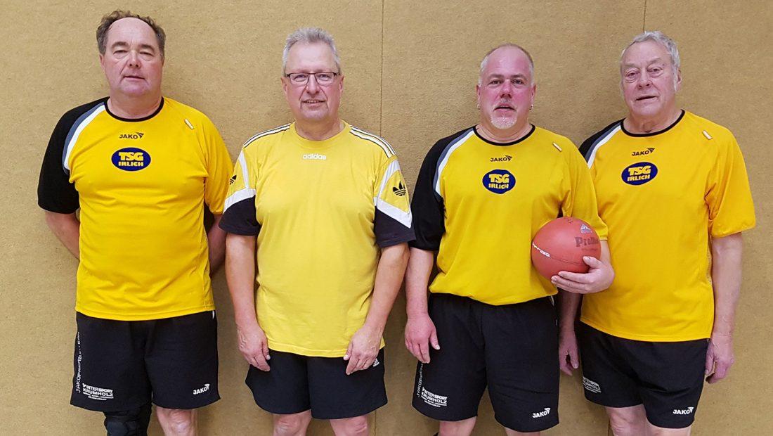 Die Prellballer der TSG Irlich v.l.n.r. Dietmar Weber, Reiner Wolf, Patrick Hoffmann, Klaus Pinhammer - Foto: Patrick Hoffmann