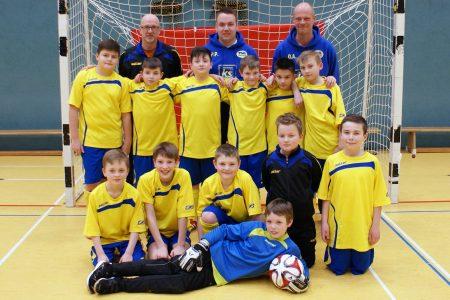 Das erfolgreiche E-Jugend-Team der TSG Irlich. Der Einzug in die Endrunde des Hallenmasters ist ein Erfolg für den ganzen Verein.