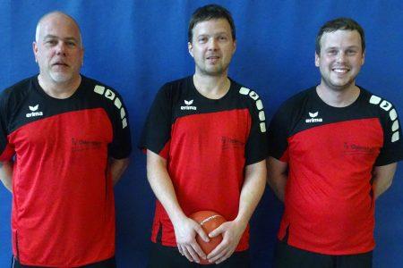 Die Mannschaft der SG aus dem TV Odernheim und der TSG Irlich in Eiserfeld: (v.l.n.r.) Patrick Hoffmann, Eric Beck und Simon Euler