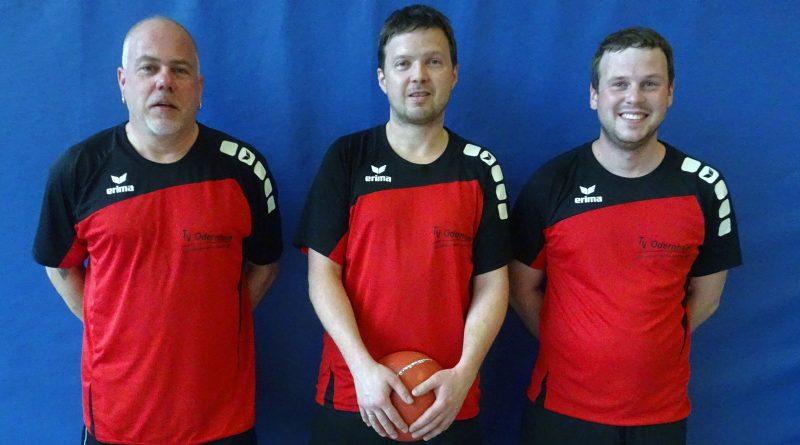 Die Mannschaft SG aus dem TV Odernheim und der TSG Irlich von links nach rechts: Patrick Hoffmann, Eric Beck und Simon Euler