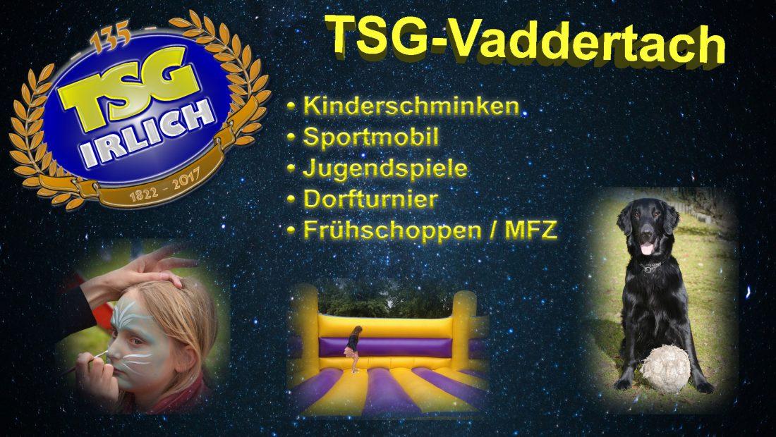 Im Rahmen des traditionellen TSG-Vaddertachs findet in diesem Jahr die 135-Jahre-Feierlichkeit statt.