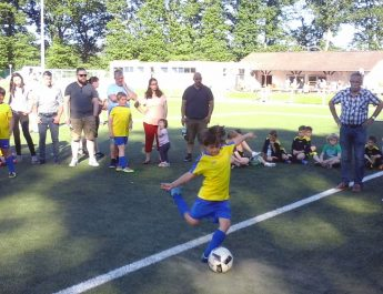 Die F-Jugend der TSG Irlich beim Turnier des SV Melsbach.