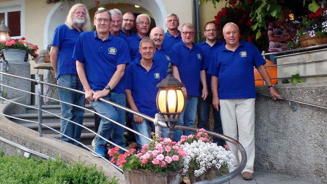 Die Jedermänner der TSG Irlich bei ihrer Tour in der Fränkischen Schweiz.