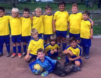 Die F-Jugend-Truppe der TSG Irlich bei ihrem 10:2-Torfestival gegen die Freunde vom VfL Wied Niederbieber.