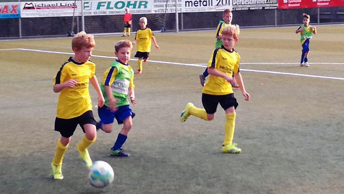 Die F-Jugend der TSG Irlich verkaufte sich beim VfL Oberbieber durch aus teuer.