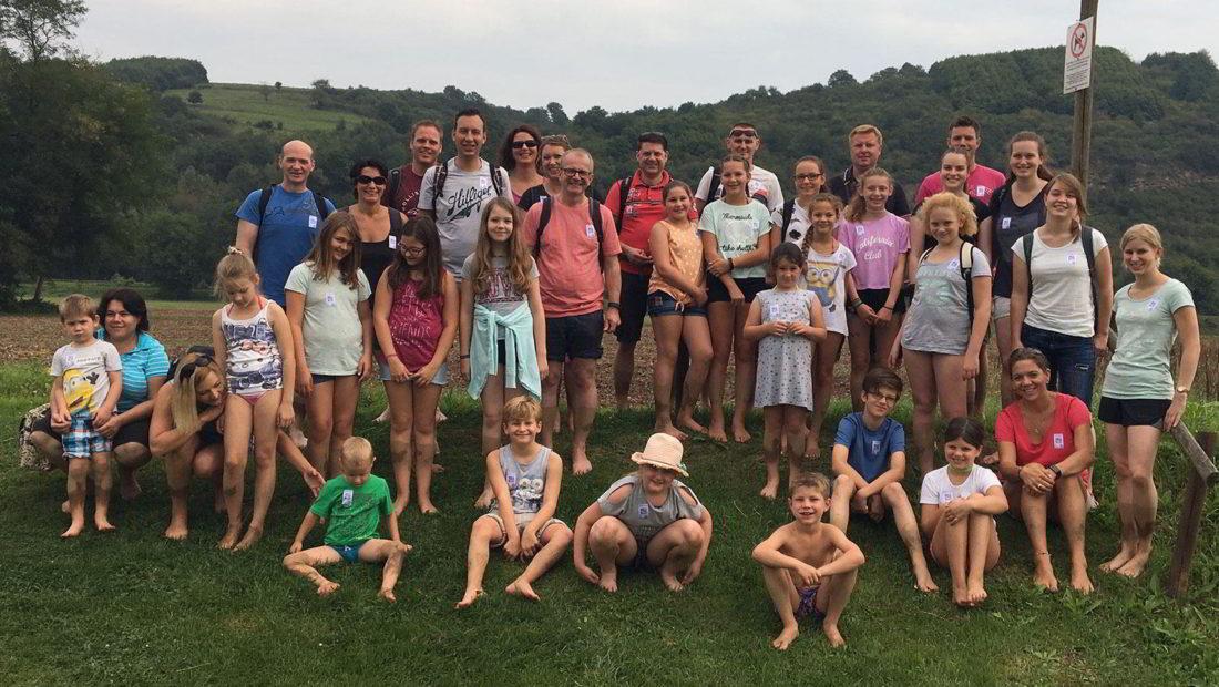 Die Gruppe beim Familienausflug der Rope Skipper hatte viel Spaß.
