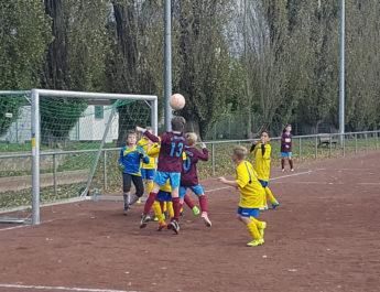 Viel Betrieb und voller Einsatz! Was die Erwachsenen vor machen wird auch bereits schon in der Jugend gelebt. Hier ist es die E-Jugend der TSG Irlich in der Quali-Runde gegen die JSG Melsbach.