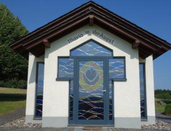 Während der Wällertour kommt die Wandergruppe der TSG Irlich auch an der Kapelle Maria in der Augst vorbei. Bildquelle: www.deine-berge.de