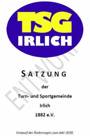 TSG Irlich - Entwurf der Satzungsänderungen 2018