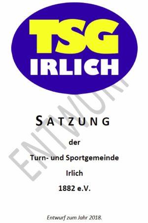TSG Irlich - Entwurf der Satzung 2018