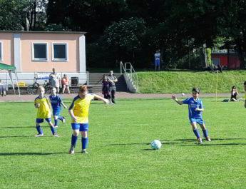 Die F-Jugend beim Spiel beim VfL Neuwied II.