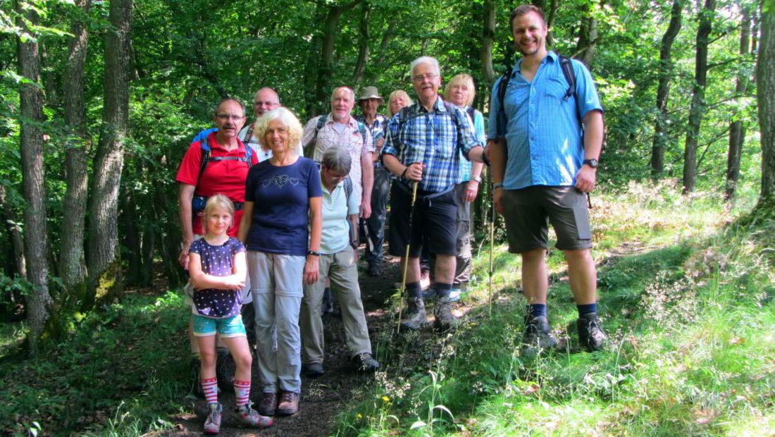 Die nette Truppe, die an Tour Virneburg teilnahmen.
