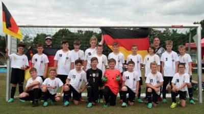 Die Jungs bei ihrer Mini-WM in Kaiserslautern.