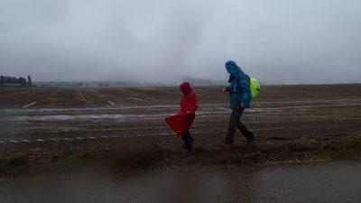 Egal wie das Wetter spielt. Die TSG Irlich geniest zu jeder Zeit ihre Wanderungen.