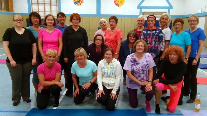 Die Pilates-Gruppe der TSG Irlich.