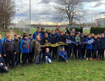 Das Bundesligaspiel zwischen Bayer Leverkusen und Werder Bremen wird den über vierzig teilnehmenden Kindern noch lange in Erinnerung bleiben.