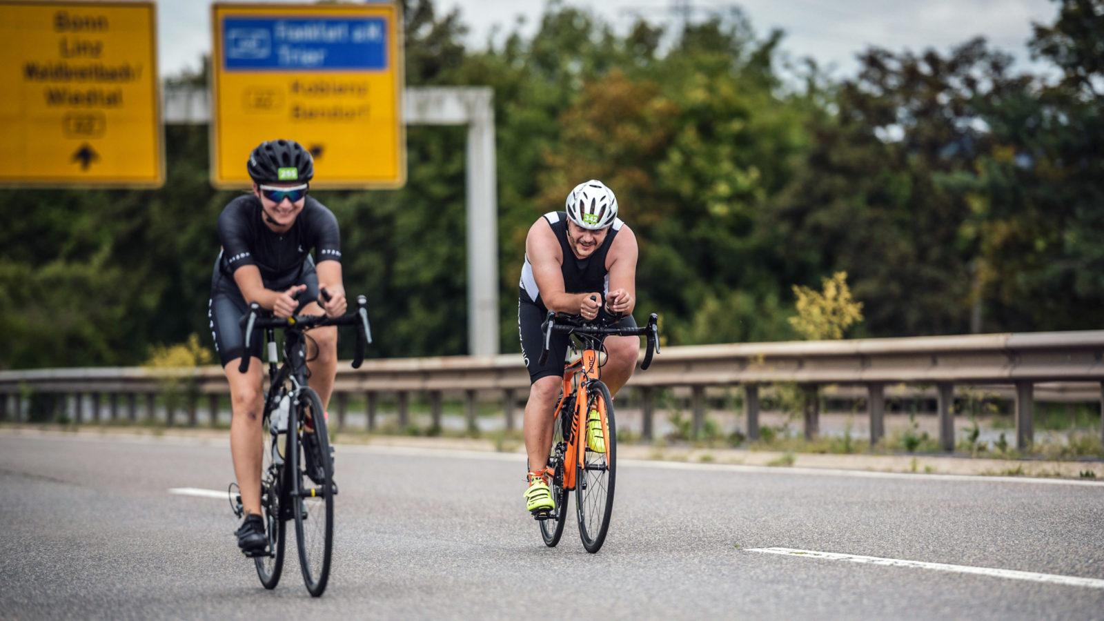 Der Neuwieder Raiffeisentriathlon 2019 war der erste Triathlon für Sebastian Schmidt und die TSG Irlich. Fotograf: Sportograf.com