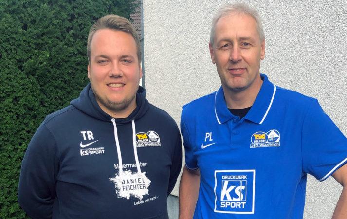 Neu im Trainerstab: Peter Laub (rechts) kümmert sich um die Torhüter bei den C-Junioren der JSG Wied/Irlich. Eine Unterstützung die Philipp Pfeiffer sehr entgegen kommt.