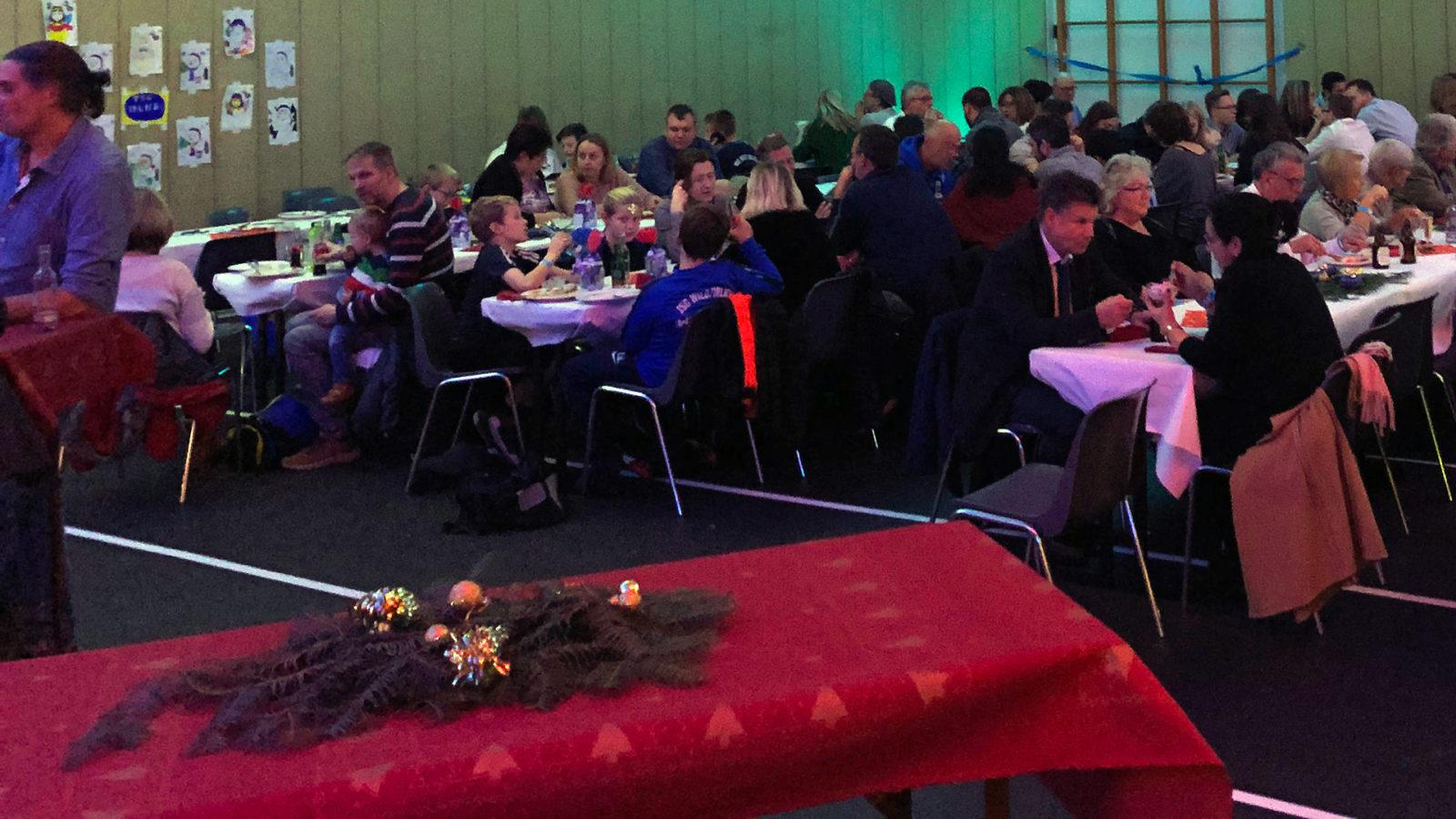 Die Partner und Mitglieder der TSG-Familie genossen die Weihnachtsfeier.