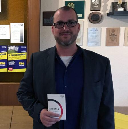 Die TSG Irlich dankt Alexander Böhm (DOSB-Vereinsmanager) für seinen Einsatz im Vorstand der TSG Irlich.