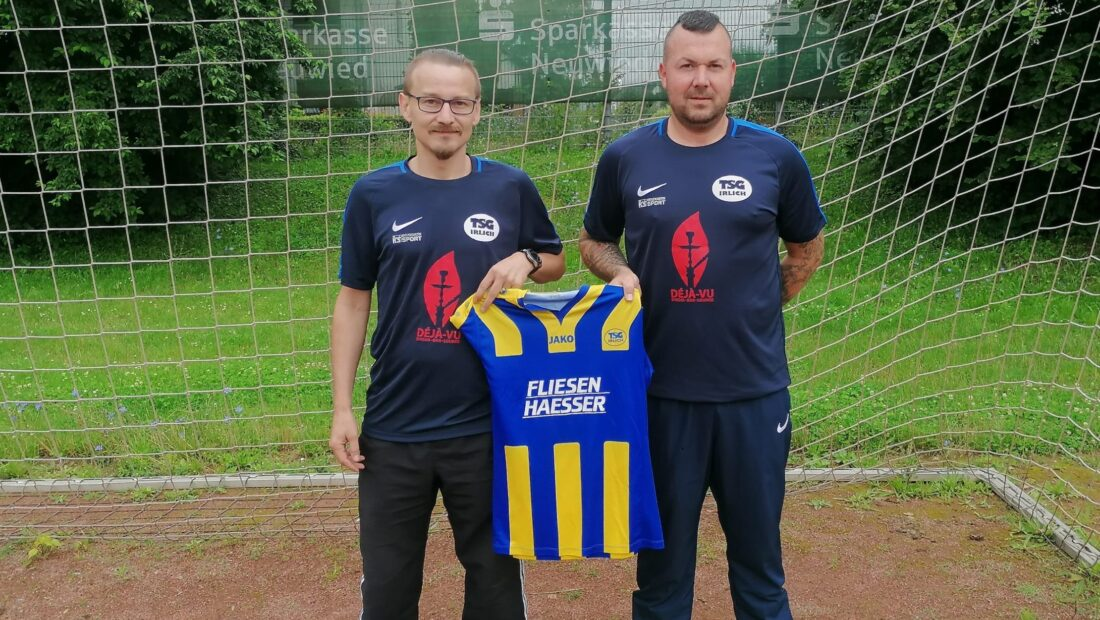 Trainer Paul Besjaew(li.) mit Abteilungsleiter Torsten Schug